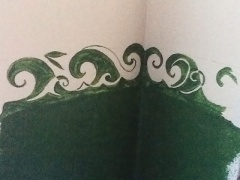 Wave style Celtic knotwork that will be the backsplash in my kitchen... in chalkboard paint, of course!