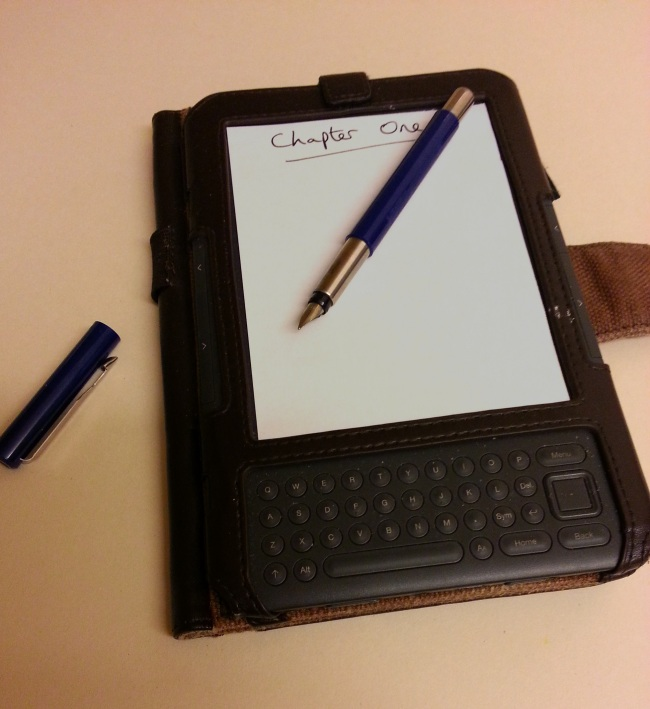 How to write an ebook. Careful not to scratch the screen!