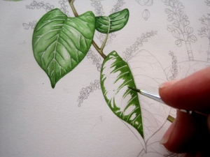Leafpainting